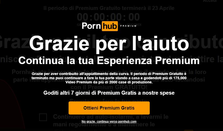 pornhub iniziative